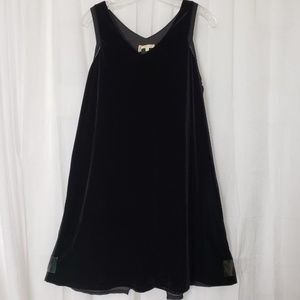 MyStree  Black Velvet Dress Sleeveless Size Large